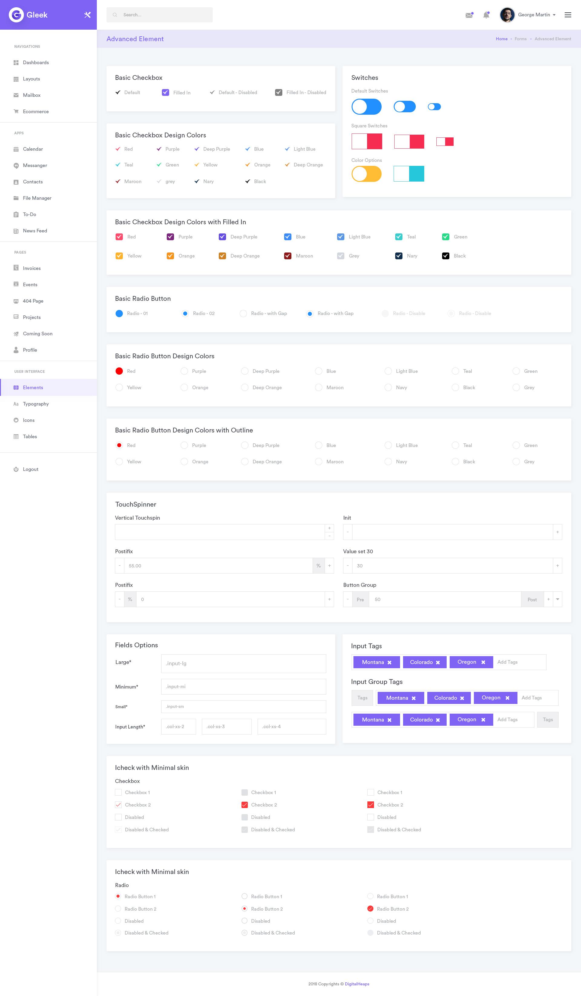 Gleek - Admin Dashboard UI Kit MultiPurpose PSD Template