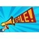 Speaker Megaphone Sale Text