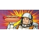 Smiling Male Astronaut Presents Hot Dog Sausage - GraphicRiver Item for Sale