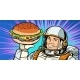 Smiling Male Astronaut Presents Burger - GraphicRiver Item for Sale