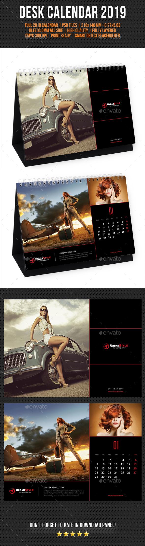 Creative Desk Calendar 2019 V03 - Calendars Stationery
