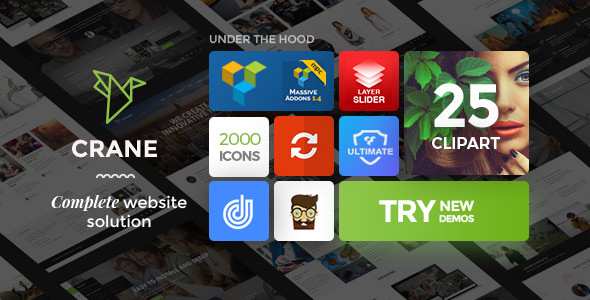 Crane - Highly Customizable Multipurpose WordPress Theme - Business Corporate