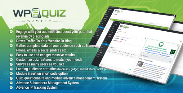 Wordpress Quiz System Plugin - CodeCanyon Item for Sale