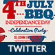 4th of July BBQ Twitter-2 Design- Image Included - GraphicRiver Item for Sale