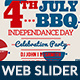 4th of July BBQ Web Slider-2 Design- Image Included - GraphicRiver Item for Sale