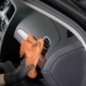 Man Is Rubbing Control Panel of Automobile By Cloth, Cleaning Surface From Dirt During Washing of - VideoHive Item for Sale