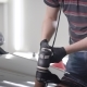 Man Is Polishing Surface of Hood of Black Automobile in Auto-service, Using Electric Grinding - VideoHive Item for Sale
