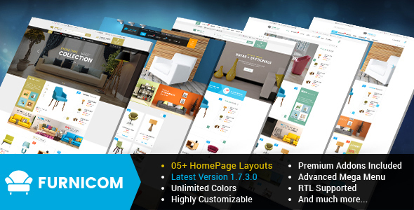 Furnicom - Responsive PrestaShop 1.6 and 1.7 Furniture Theme - Shopping PrestaShop
