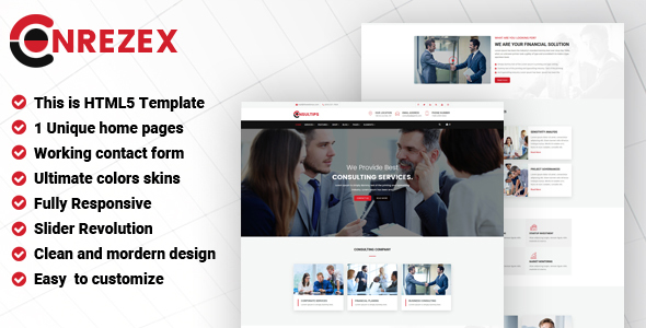 Image of Conrezex - Consulting & Business HTML Template