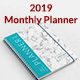 2019 Monthly Planner - GraphicRiver Item for Sale