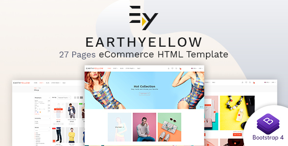 Image of Earthyellow - Responsive Ecommerce HTML5 Template