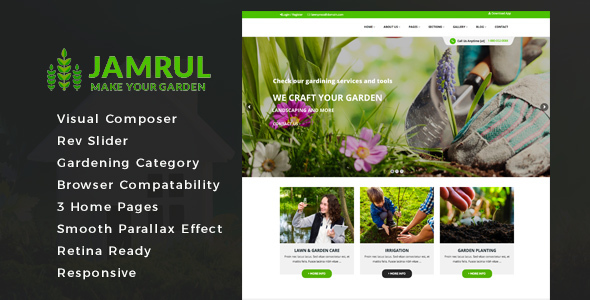 Image of Jamrul - Landscaping WordPress Theme