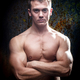 Portrait of a shirtless muscular young man - PhotoDune Item for Sale