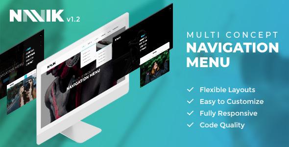 Navik - Responsive Header Navigation Menu - CodeCanyon Item for Sale