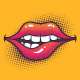 Biting Lips - GraphicRiver Item for Sale
