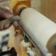 Sanding Wood on a Lathe Foot Operated Spring Pole Wood Lathe - VideoHive Item for Sale