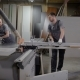 Two Carpenters Are Working in a Joiners Shop in Plant - VideoHive Item for Sale