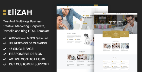 Image of Elizah – Business And Corporate Responsive Website