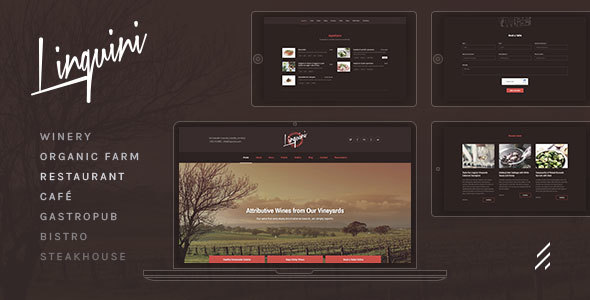 Linguini — Restaurant WordPress Theme