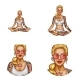 Vector Avatar of Tattooed Girl Doing Yoga