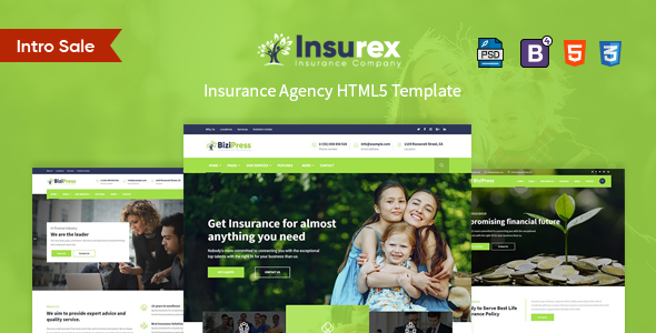 Image of Insurex - Insurance Agency HTML5 Template