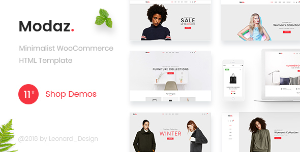 Modaz | Minimalist eCommerce HTML Template - Shopping Retail