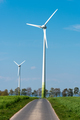 Wind power plants and country road - PhotoDune Item for Sale