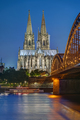 The famous Cologne Cathedral and the Hohenzollern railway bridge - PhotoDune Item for Sale