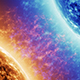 Blue Fire Star vs Red Star in Space - VideoHive Item for Sale