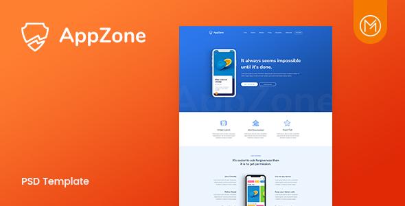 Appzone - App Landing PSD Template - Technology PSD Templates