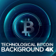 Technological Bitcoin Background 4K - VideoHive Item for Sale