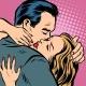 Man and Woman Hug Love and Romance