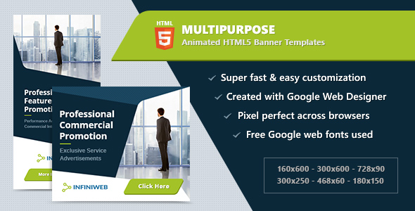 Multipurpose Banners - HTML5 Animated Ad Templates GWD            Nulled