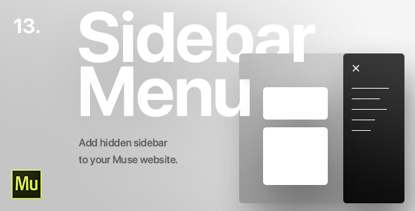 13 | Hidden Sidebar Menu for Adobe Muse CC - CodeCanyon Item for Sale