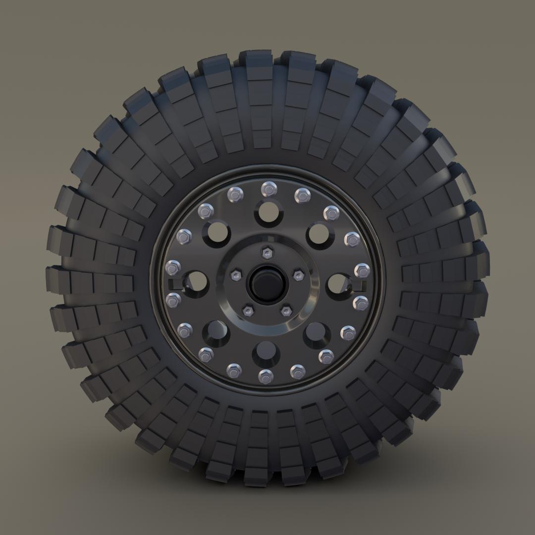 Tibus Offroad Wheel w Maxxis Trepador Tire