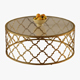 Round Moroccan Cocktail Table Gold - 3DOcean Item for Sale