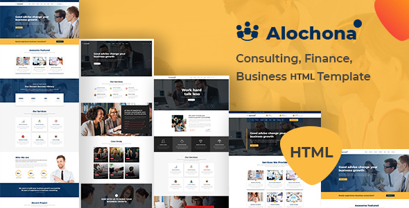 Image of Alochona - Consulting, Finance, Business HTML5 Template