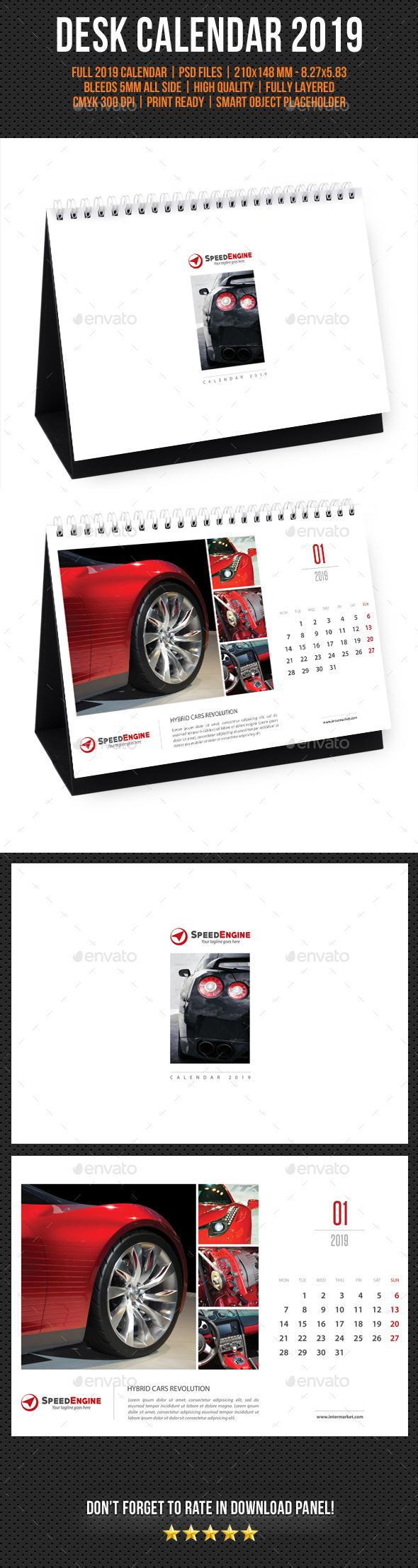 Creative Desk Calendar 2019 V02 - Calendars Stationery