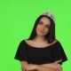 Beautiful Prom Queen Wearing a Crown on Chromakey Background - VideoHive Item for Sale