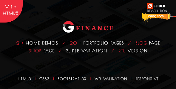 Image of Groo - Multipurpose Business, Finance and Professional Services HTML5 Template