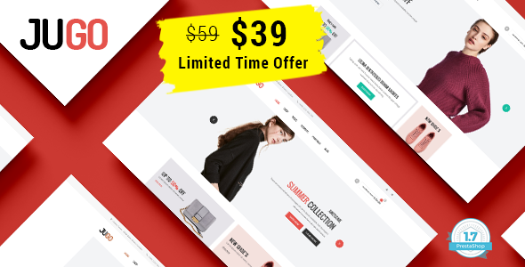 Image of Jugo - Minimalist Fashion Responsive Prestashop 1.7 Theme