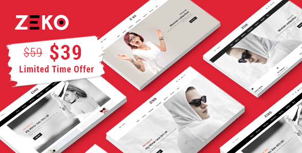Image of Zeko - Clean Fashion Shopping Responsive Prestashop 1.7 Theme