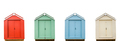 Four Vintage Beach Huts - PhotoDune Item for Sale