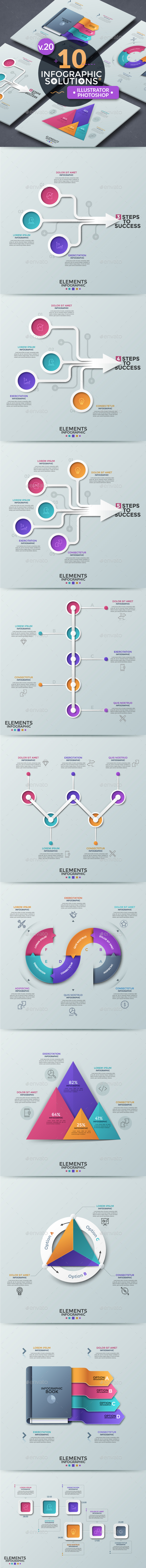 Infographic Solutions. Part 20 - Infographics