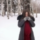 Pregnant Girl Walks in a Winter and Drinks Hot Tea - VideoHive Item for Sale