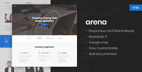 Image of Arena - Business & Agency HTML5 Template