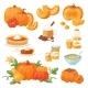 Pumpkin Food Vector Soup, Cake, Pie Meals Organic