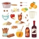 Vector Mulled Wine Christmas Drink Multeity