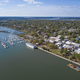 Aerial view of tourist destination of Beaufort, South Carolina w - PhotoDune Item for Sale