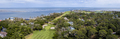 180 degree panorama of waterfront and golf properties on Fripp I